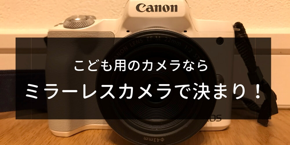 子どもの記録を撮るならミラーレスカメラがおすすめ!軽くて小さいと使うのがめんどくさくならない