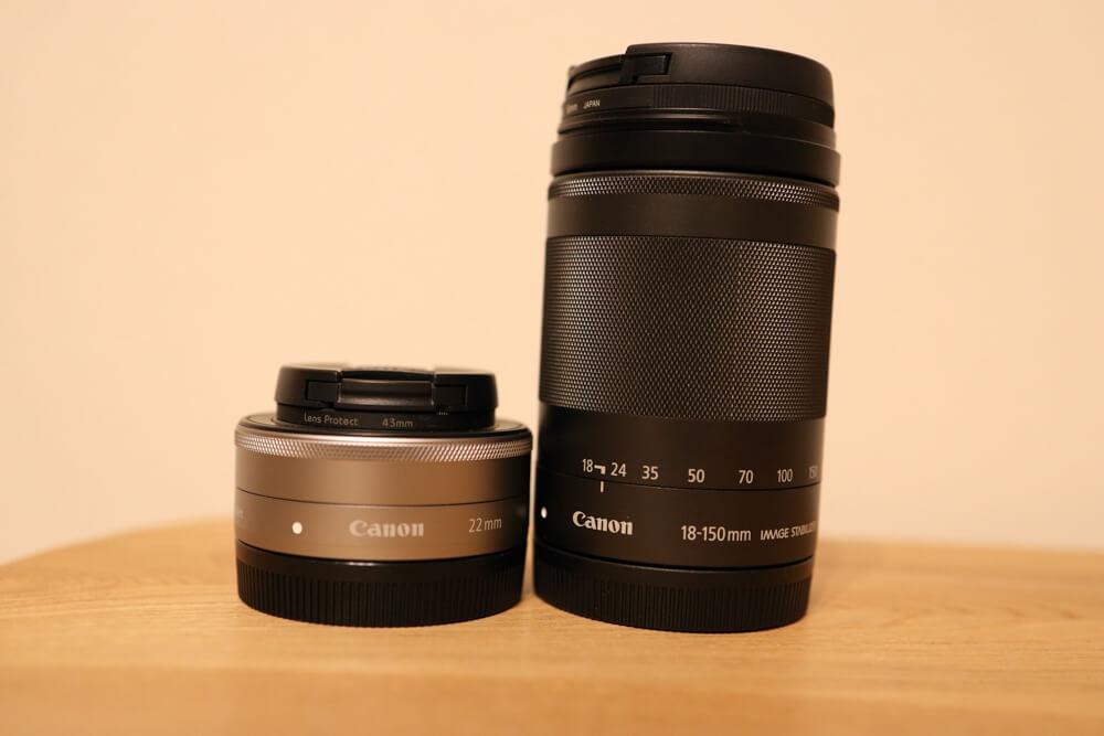 高倍率ズームのef-m18-150mmと単焦点のef-m 22mmを比較した写真
