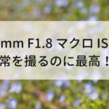 【作例あり】気軽に使える RF35mm F1.8 MACRO IS STM はすっごく最高